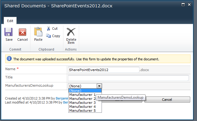 sharepoint 2010 lookup column from another site like meet
