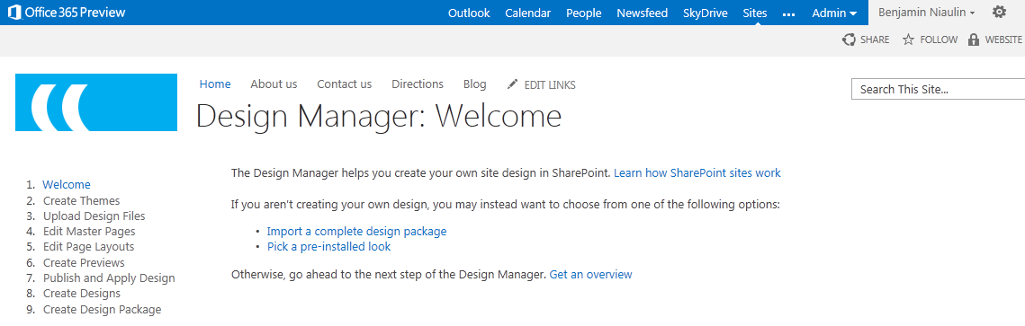 sharepoint 2013 design manager convert html to master page