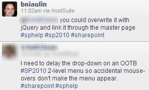 Delay the hover in SharePoint dropdown menus | Benjamin