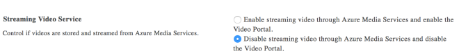 Disable Office 365 Video Portal